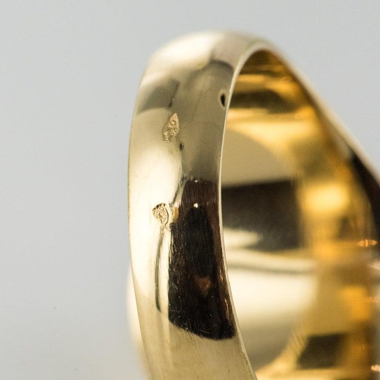 18 Karat Yellow Gold Blazon Men Modern Signet Ring For Sale 10