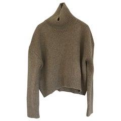 new 2014 CELINE by PHOEBE PHILO beige oversized cashmere turtleneck sweater XS