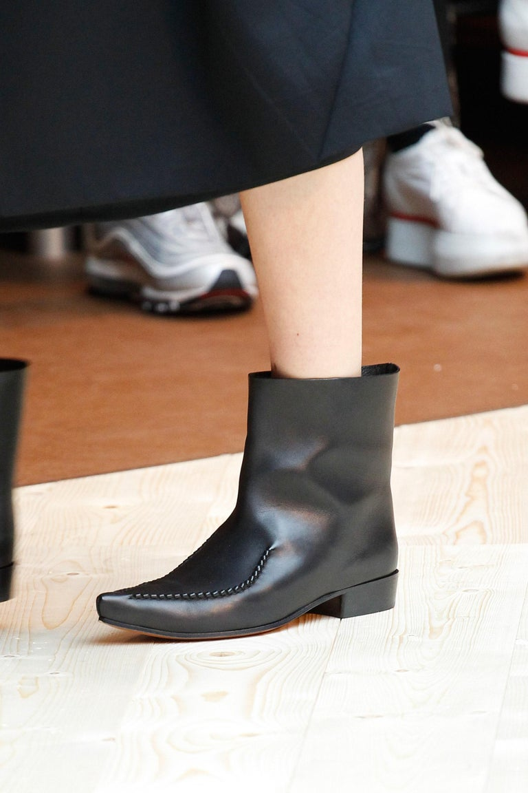 new 2017 CELINE by Phoebe Philo Santiag RUNWAY black leather ankle boots FR 40.5 For Sale 8