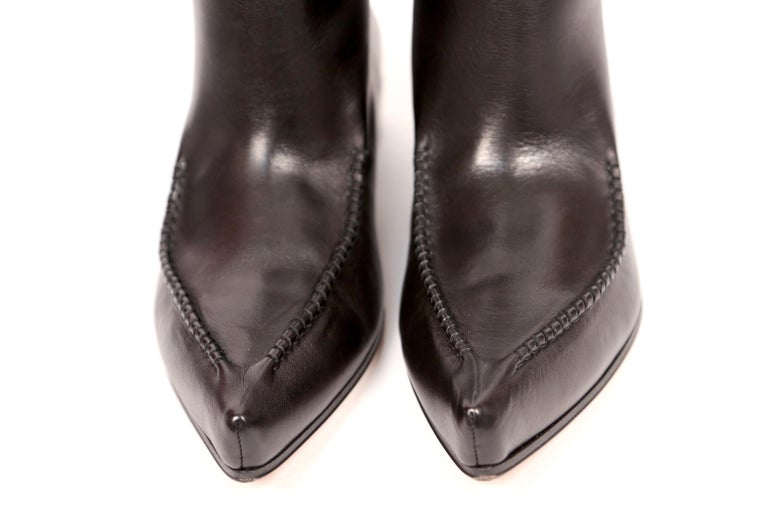 Women's or Men's new 2017 CELINE by Phoebe Philo Santiag RUNWAY black leather ankle boots FR 40.5 For Sale