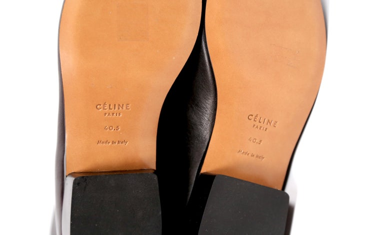 new 2017 CELINE by Phoebe Philo Santiag RUNWAY black leather ankle boots FR 40.5 For Sale 4