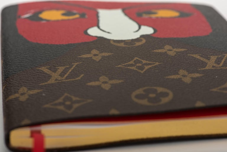 Louis Vuitton limited edition Kabuki notebook covered with monogram canvas and a kabuki mask. 2018 cruise collection. Brand new.