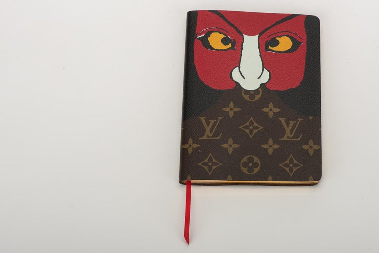 New 2018 Louis Vuitton Kabuki Mask Notebook In New Condition For Sale In West Hollywood, CA
