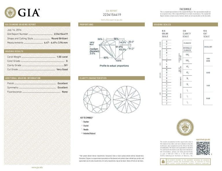 2.01 Carat Round Brilliant Diamond Earrings, 950 Platinum GIA Pierced Studs For Sale 3
