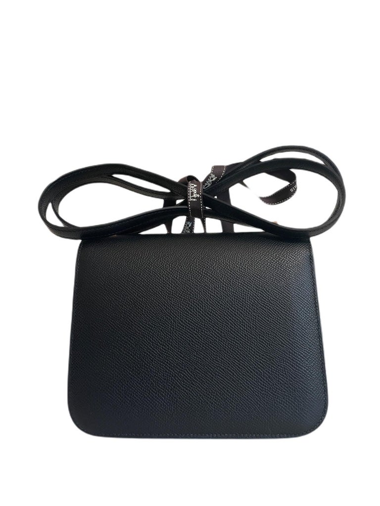 NEW 2021 Z STAMP. Hermes Constance 18 Mini Black Noir Epsom Leather Rose Pink Gol Hardware. FULL SET WITH COPY OF RECEIPT.  SHOP WITH CONFIDENCE FROM LUX ADDICTS. AUTHENTICITY GUARANTEED!