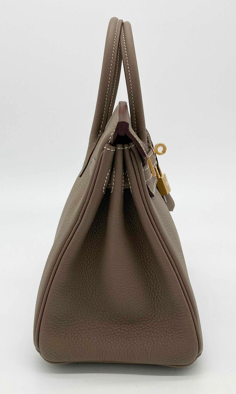 NEW 2021 Hermes Etoupe Togo Birkin 25 GHW  In New Condition For Sale In Philadelphia, PA