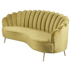 New 3 Seater Spanish Sofa Green Velvet