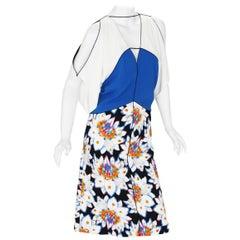 New $4440 ETRO Runway Cold Shoulder Print Floral Stretch Dress It 44 - US 8/10