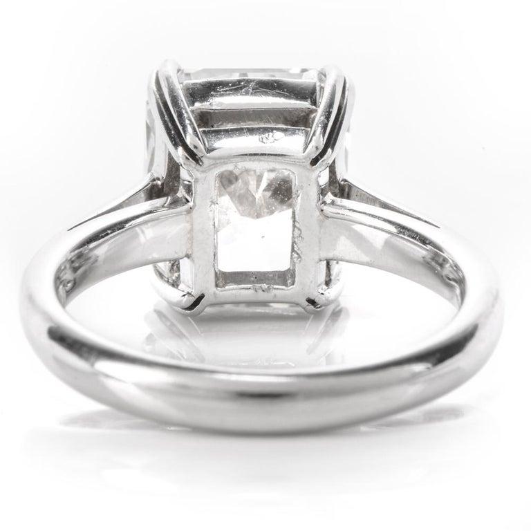 5.03 Carat G-VVS1 Radiant Cut GIA Certified Diamond Platinum Engagement Ring For Sale 3