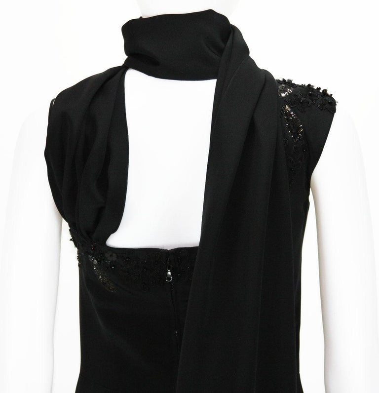New $7500 L'WREN SCOTT S/S 2010 Represent Her *MADAME DU BARRY* Black Dress Gown For Sale 7