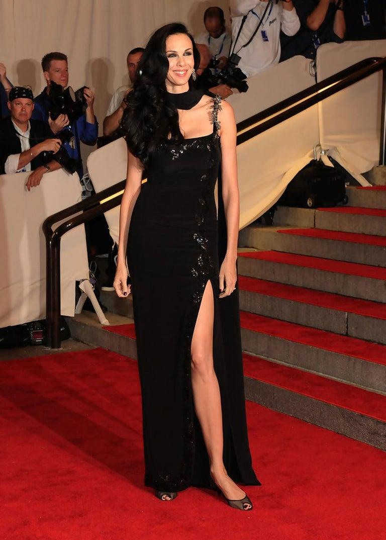 New $7500 L'WREN SCOTT S/S 2010 Represent Her *MADAME DU BARRY* Black Dress Gown For Sale 9