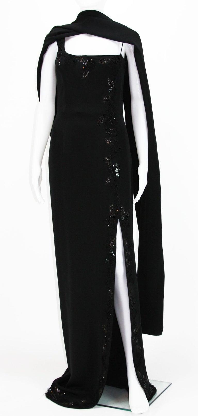 New $7500 L'WREN SCOTT S/S 2010 Represent Her *MADAME DU BARRY* Black Dress Gown For Sale 1