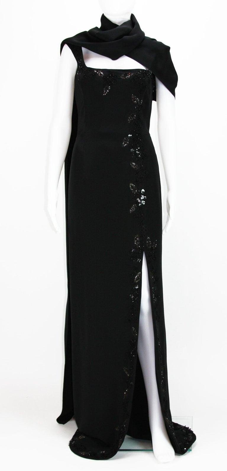 New $7500 L'WREN SCOTT S/S 2010 Represent Her *MADAME DU BARRY* Black Dress Gown For Sale 2