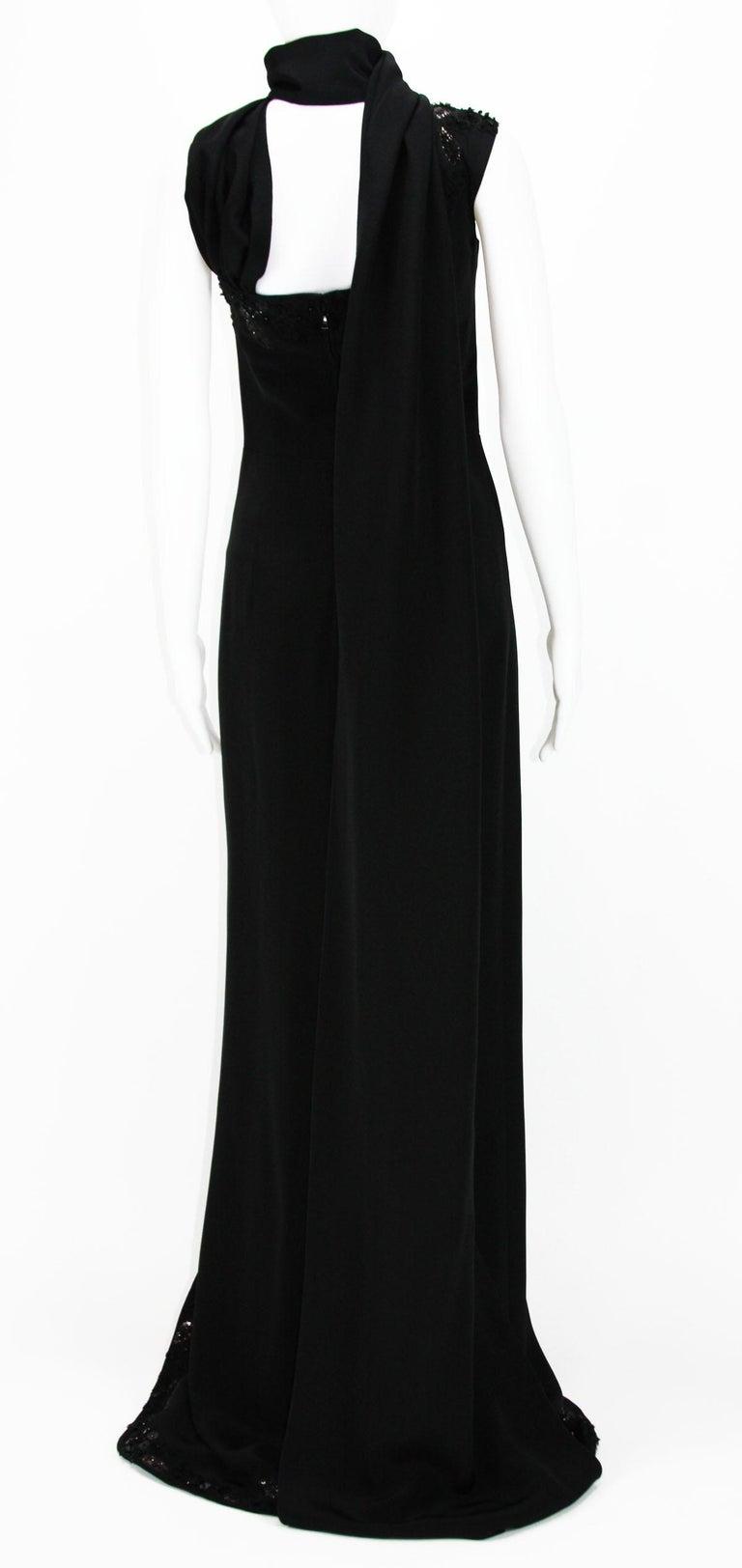 New $7500 L'WREN SCOTT S/S 2010 Represent Her *MADAME DU BARRY* Black Dress Gown For Sale 3