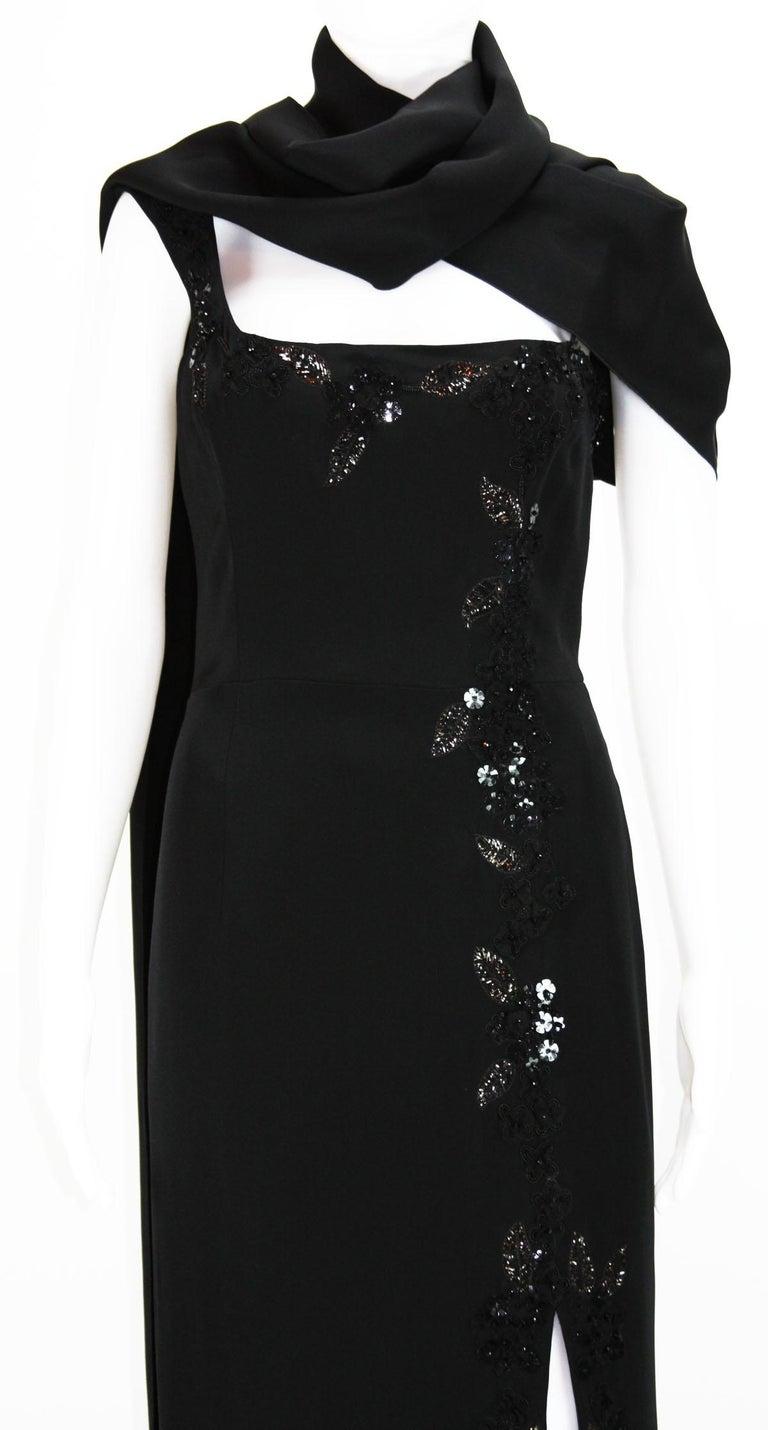 New $7500 L'WREN SCOTT S/S 2010 Represent Her *MADAME DU BARRY* Black Dress Gown For Sale 4