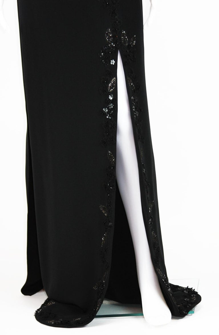 New $7500 L'WREN SCOTT S/S 2010 Represent Her *MADAME DU BARRY* Black Dress Gown For Sale 5