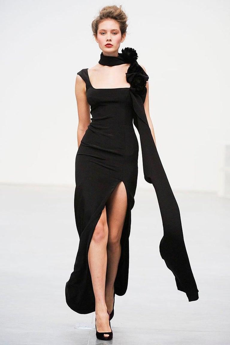New $7500 L'WREN SCOTT S/S 2010 Represent Her *MADAME DU BARRY* Black Dress Gown For Sale 11
