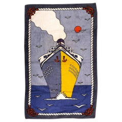 New 90s Inspired Hermes Vintage Ship Beach Towel