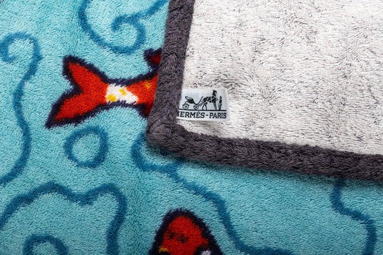 Women's or Men's New 90's Vintage Inspired Hermes Oversize Koi Fish Beach Bath Towel For Sale