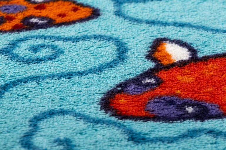 New 90's Vintage Inspired Hermes Oversize Koi Fish Beach Bath Towel For Sale 1