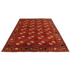 New Afghan Transitional Turkmen Designed Rug Inspired by Turkmen Tribal Weavings