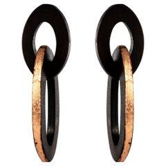 New African Ebony Shuttle Shape Dangling Earrings