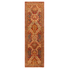 New Agra Red and Gold Wool Runner