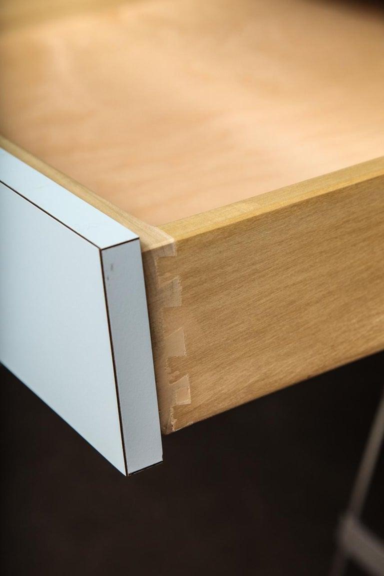 Laminate New Albrizzi Trestle Desk in Brass For Sale