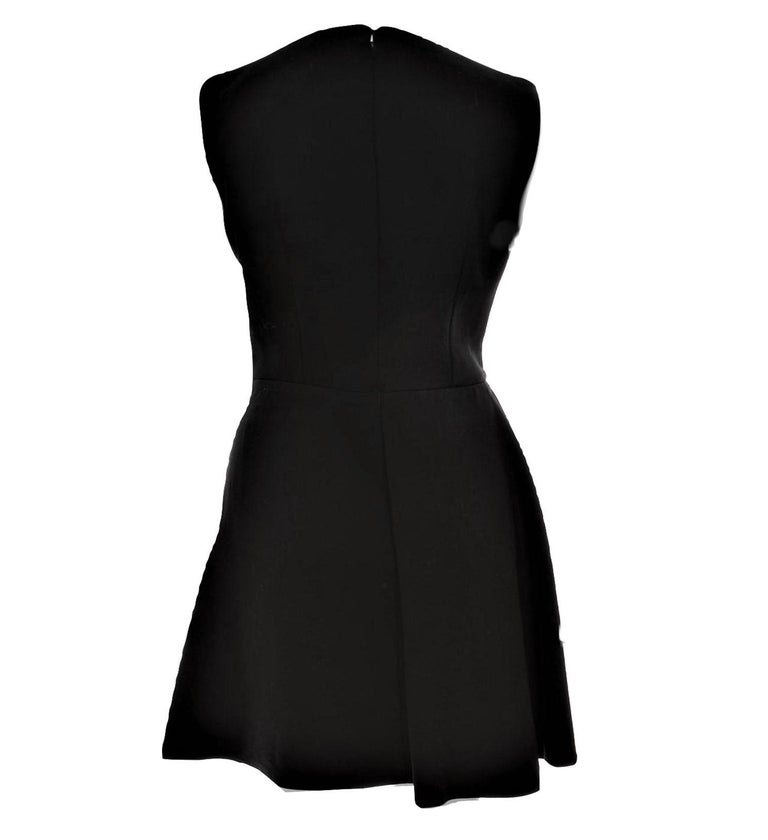 Women's New Alexander McQueen F/W 2015 Wool Dress  $2425 Sz IT 40 For Sale