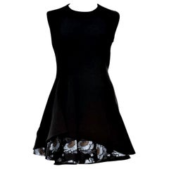 New Alexander McQueen F/W 2015 Wool Dress  $2425 Sz IT 40