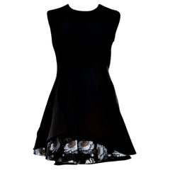 New Alexander McQueen F/W 2015 Wool Dress  $2425 Sz IT 40