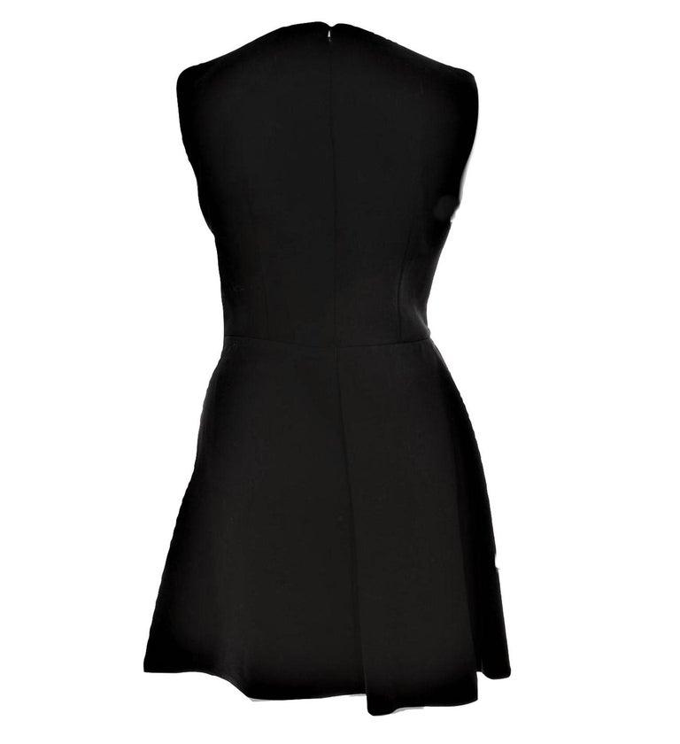 Women's New Alexander McQueen F/W 2015 Wool Dress  $2425 Sz IT 46 For Sale