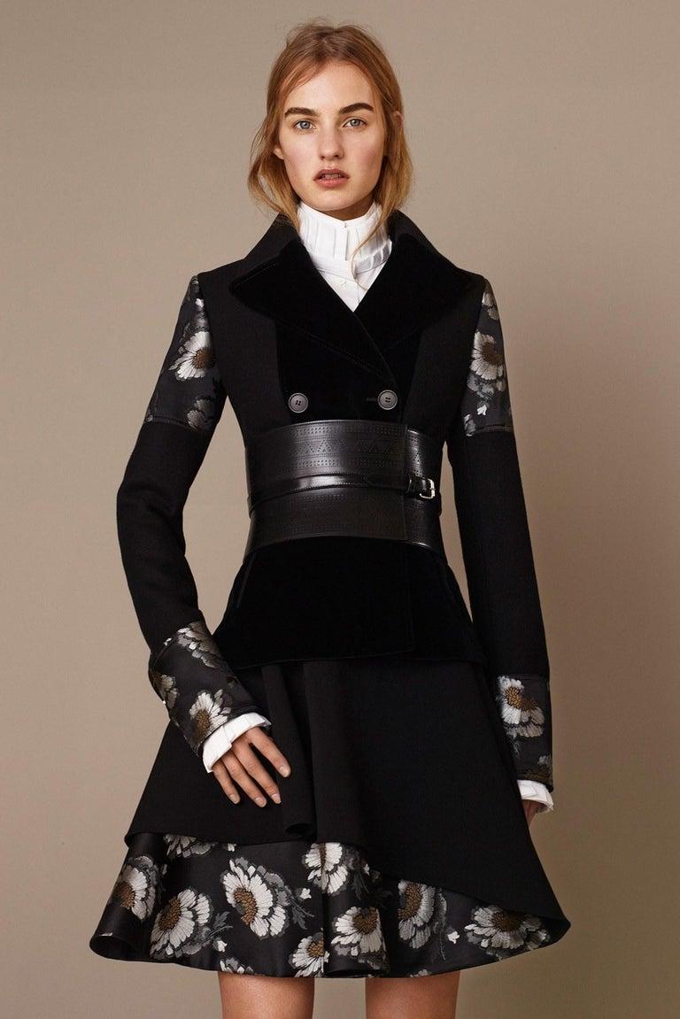 New Alexander McQueen F/W 2015 Wool Dress  $2425 Sz IT 46 For Sale 1