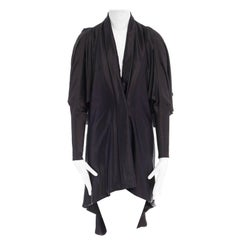 new ALEXANDER MCQUEEN Runway SS08 black single button kimono mini dress IT38 XS