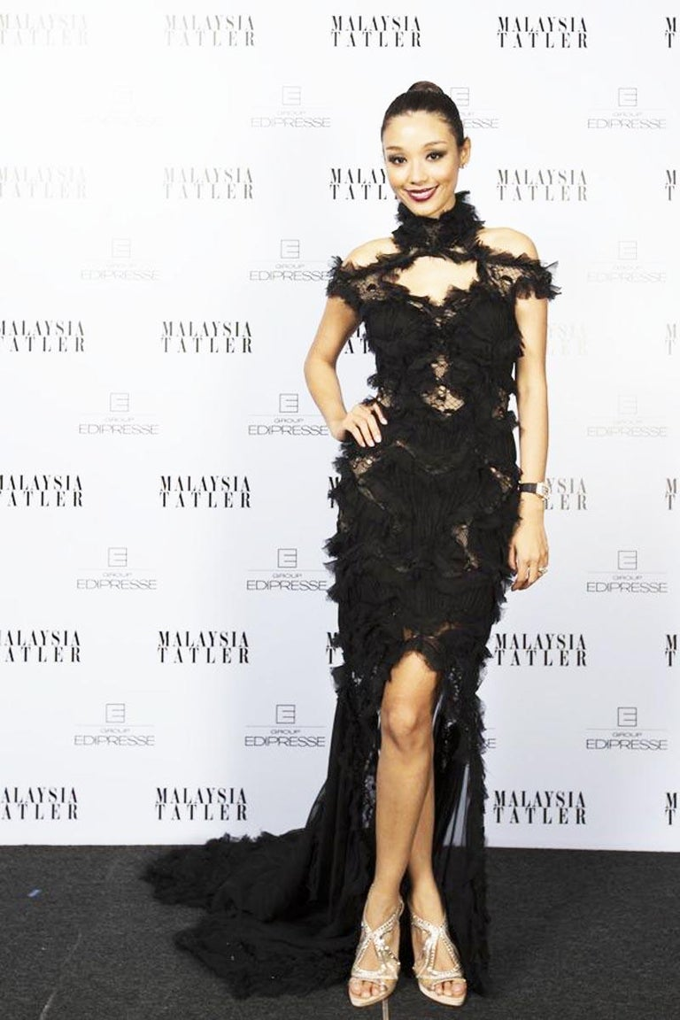 Details about  /Alexander McQueen 42 Black DESIGNER Dress