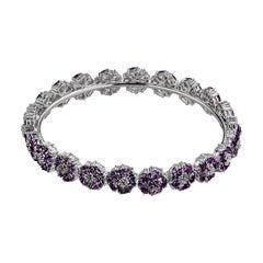 Amethyst Blossom Gemstone Wraparound Bracelet