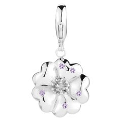 New Amethyst Blossom Pave Detachable Charm/Pendant