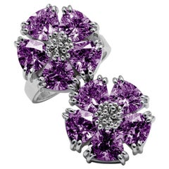 Amethyst Double Blossom Stone Ring