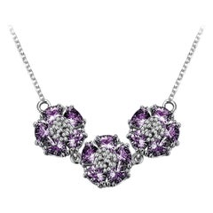 New Amethyst Triple Blossom Gentile Necklace