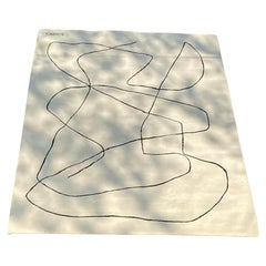 "New and Exclusive Artistic Rug by Benjamin Ewing ""White on Black"""