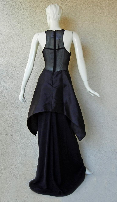 Women's New Antonio Berardi Black Beaded Runway Red Carpet Dress Gown For Sale