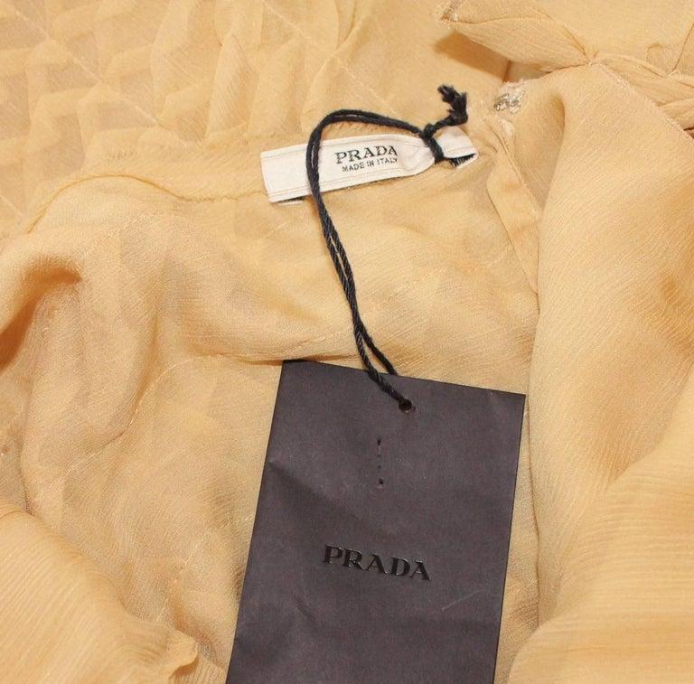 NEW Asymmetric Prada 3D Silk Chiffon Draped Fairy Cocktail Dress For Sale 2