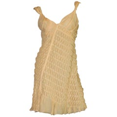 NEW Asymmetric Prada 3D Silk Chiffon Draped Fairy Cocktail Dress