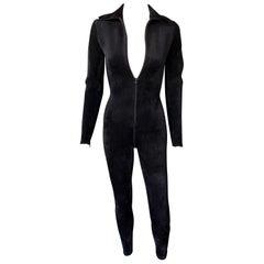 New Azzedine Alaia Chenille Bodycon Playsuit Catsuit Jumpsuit