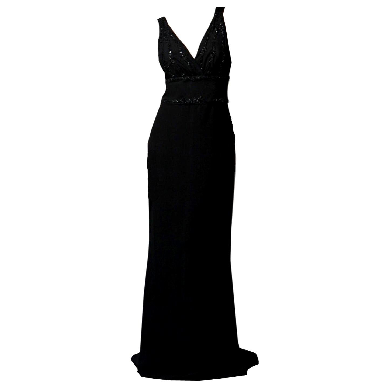 New Badgley Mischka Couture Beaded Evening Dress Gown Sz 6