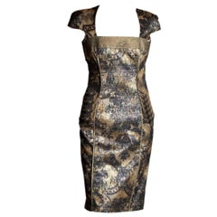 New Badgley Mischka Couture Cocktail Dress Sz 4