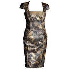 New Badgley Mischka Couture Cocktail Dress Sz 4