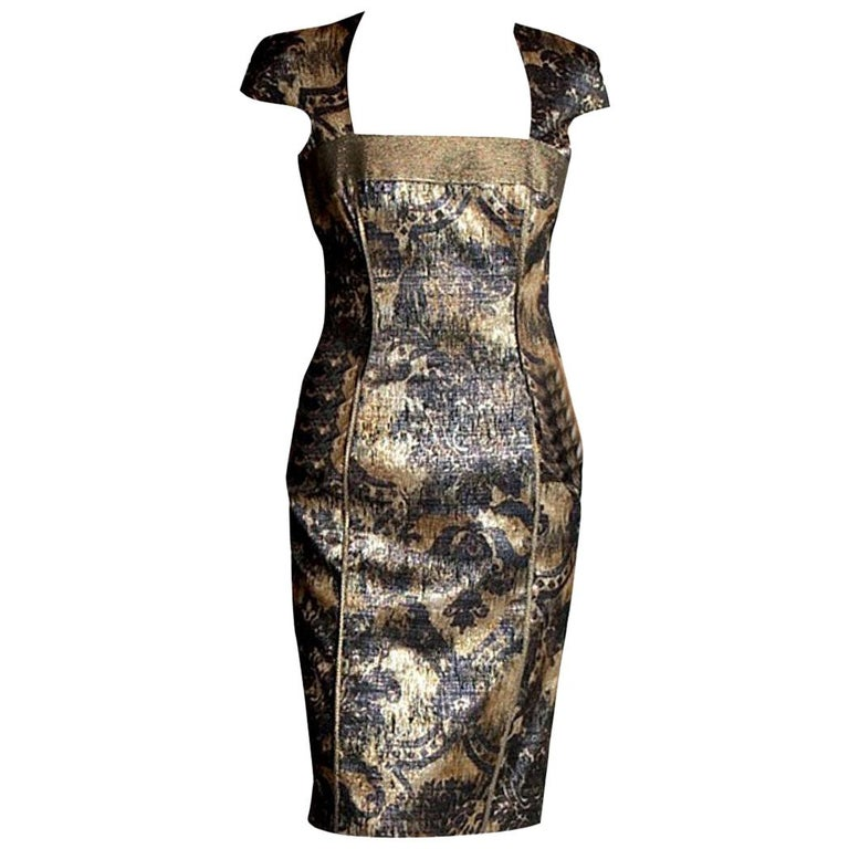 New Badgley Mischka Couture Cocktail Dress Sz 4 For Sale
