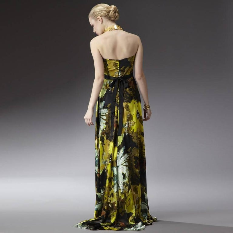 New Badgley Mischka Couture Evening Dress Gown Sz 6 In New Condition For Sale In Leesburg, VA