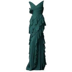 New Badgley Mischka Couture Evening Dress Gown Sz 2